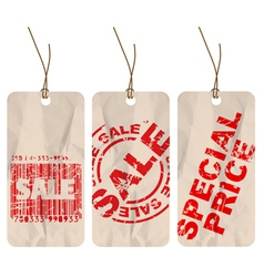crumpled paper tags vector image