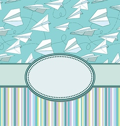 Paper plans border frame vector