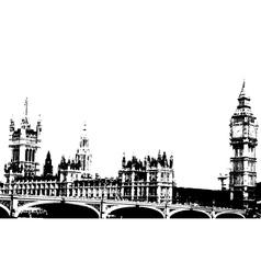 london grunge vector image