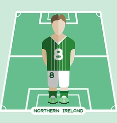 Computer game northern ireland soccer club player vector