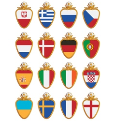 football flag shields vector image