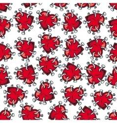 Nailed hearts seamless background pattern vector