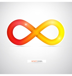 Abstract infinity symbol vector image vector image