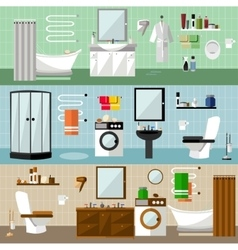Bathroom interior with furniture vector image vector image