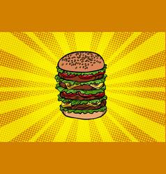 big burger fast food vector image vector image