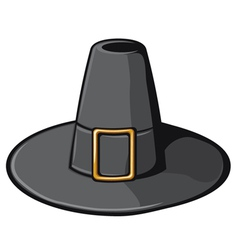black pilgrim hat vector image vector image