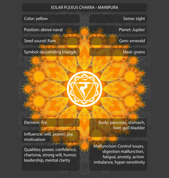 Chakras symbols with meanings infographic vector