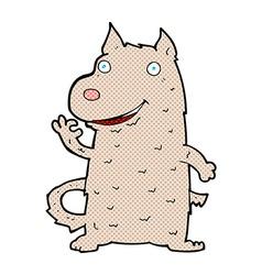 Comic cartoon happy dog vector