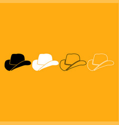 cowboy hat it is white icon vector image vector image