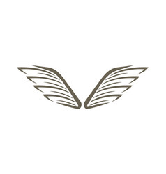 decorative wings isolated emblem vector image