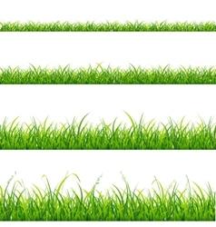 Green Grass Line Set vector image vector image