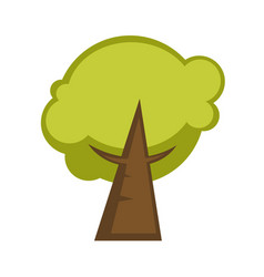 Green tree and tree leaf icon or logo template vector