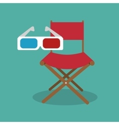 Icon chair director movie design vector