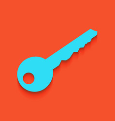 Key sign whitish icon on vector