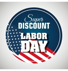 labor day sale big isolated icon vector image vector image