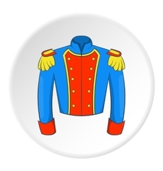 Military jacket of guards icon cartoon style vector