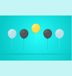 outstanding unique yellow balloon vector image vector image