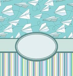 Paper plans border frame vector