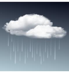 Raincloud and rain in the dark sky vector image