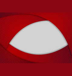 Red and grey abstract wavy background vector