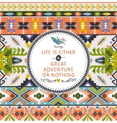 Seamless bright pattern in navajo style vector