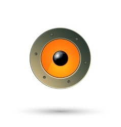 Speaker icon isolated vector