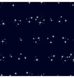 Starry sky seamless pattern vector image