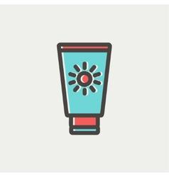 Summer beach glass thin line icon vector