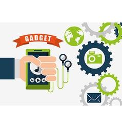 Technology gadget design vector