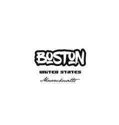 United states boston massachusetts city graffitti vector