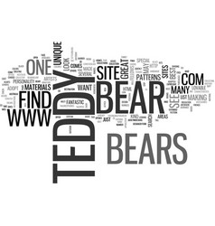 Where will i find the best teddy bears text word vector