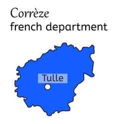 Correze french department map vector