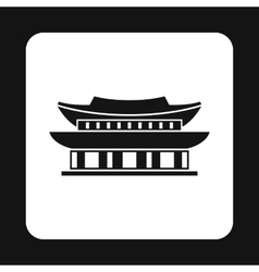 Pagoda in south korea icon simple style vector