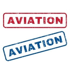 Aviation rubber stamps vector