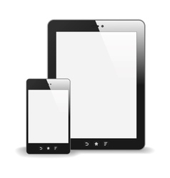 Realistic Tablet PC And Smart Phone With Blank vector image