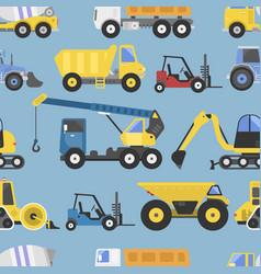 Construction equipment seamless pattern machinery vector
