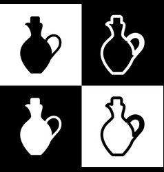 Amphora sign   black and white vector