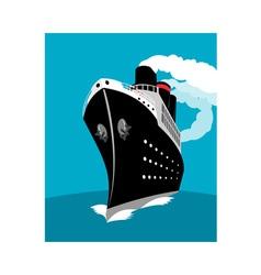 Ocean liner passenger cruise ship vector