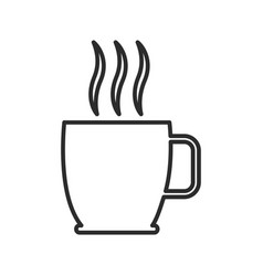 Cup of hot drink coffee tea aroma liquid vector