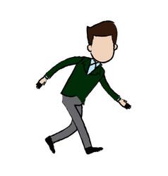 Businessman character sad problem crisis vector