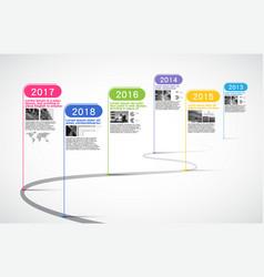 Milestones company timeline infographic vector