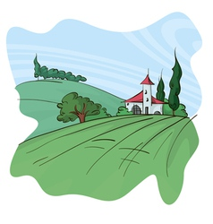 Cute landscape vector