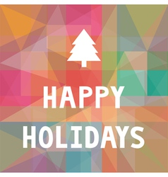 Happy holidays1 vector