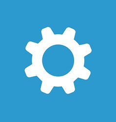 Settings icon white on the blue background vector