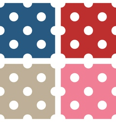 Polka dot seamless patterns vector