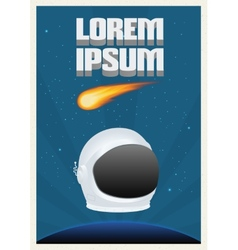 Space theme poster vector