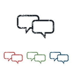 Chat grunge icon set vector