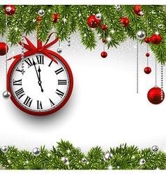 New year 2015 background with clock vector