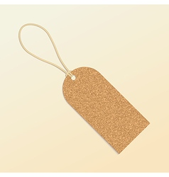 Cork natural tag label vector