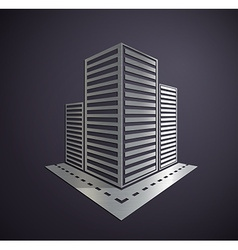 Metal logo of the real estate vector